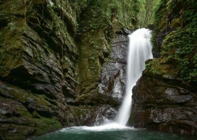 Vodopád v pohoří Lalashan na severu Taipei