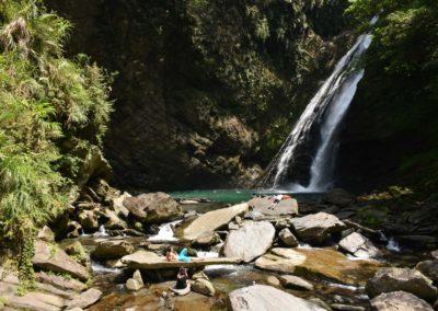 40 metrů vysoký vodopád Aohua na Taiwanu