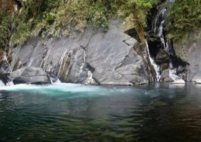 Horký pramen Silong v pohoří Lalashan