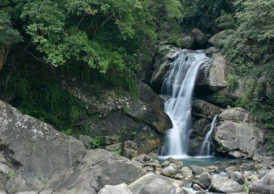 Vodopád v pohoří Lalashan na ostrově Taiwan