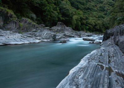 Horská řeka v pohoří Lalashan na Taiwanu