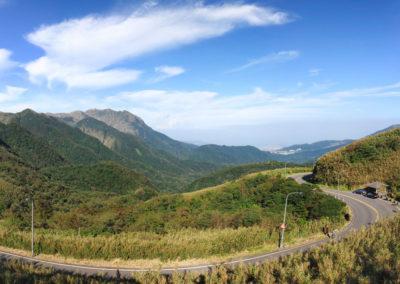 Panorama národního parku Yangmingshan na Taiwanu