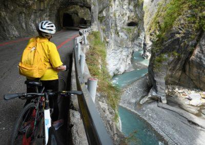 Výlet na silničním kole v soutěsce Taroko