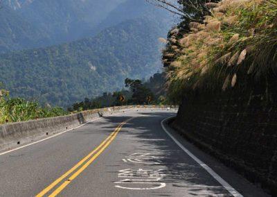 Horská silnice v národním parku Yushan na Tchaj-wanu
