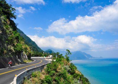 Na kole podél východního pobřeží Taiwanu