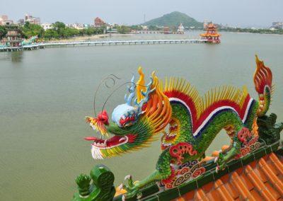 Lotusové jezero na okraji města Kaohsiung