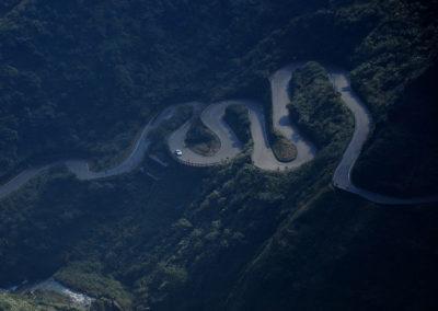 Horská silnice na ostrově Taiwan