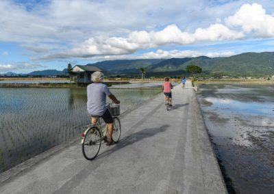 Výlet na kole po cyklostezce Mr. Brown Avenue ve městě Taitung