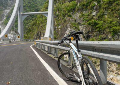 Výlet na kole do soutěsky Taroko na ostrově Taiwan