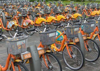 Všudypřítomná městská kola YouBike v Taipei