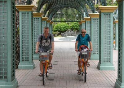 Naši klienti na kolech YouBike v Tchaj-pej