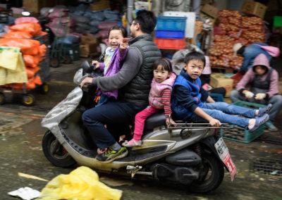 Taiwanská rodina na skútru