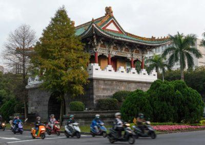 Jižní brána do Taipei a motorky