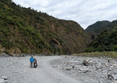 Off-road jízda na motorce na Taiwanu