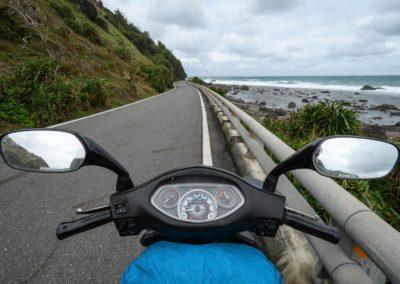 Jízda podél východního pobřeží Taiwanu s batohem