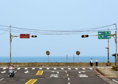 Severní pobřeží a skútr na Taiwanu