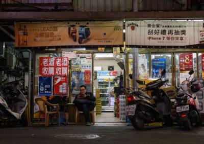 Opravna skútrů v Taipei na ostrově Tchaj-wan