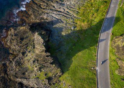 Jízda na skútru podél pobřeží ostrova Orchid Island