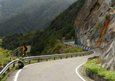 Horská silnice na ostrově Tchaj-wan