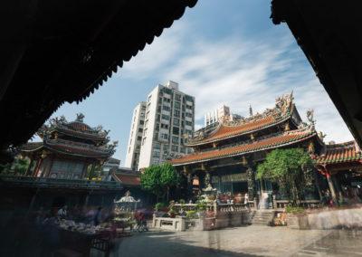 Taoistický chrám Longshan ve čtvrti Wanhua v Taipei