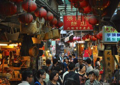 Stará ulička ve vesnice Jiufen na Tchaj-wanu