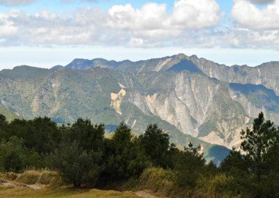 Hory národního parku Yushan na Taiwanu