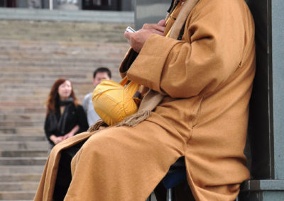 Buddhistický mnich na Taiwanu
