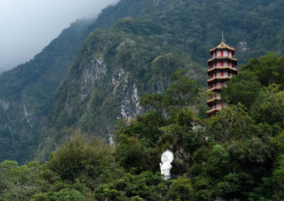 Buddhistický klášter v soutěsce Taroko na východě Taiwanu
