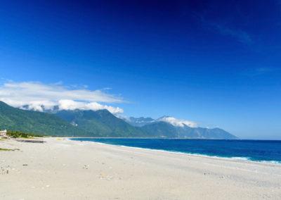 Pláž Qixingtan ve městě Hualien