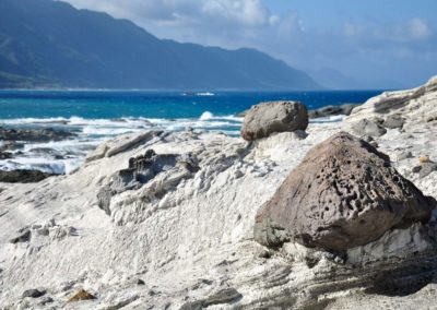 Mořské útesy Shitiping v okrese Hualien
