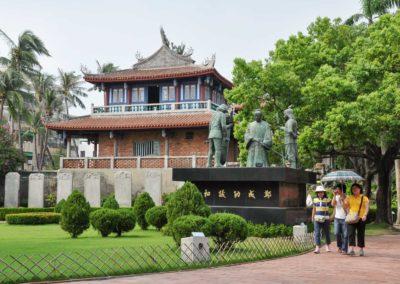 Stará japonská pevnost ve městě Tainan na Taiwanu