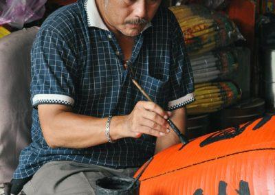 Výroba tradičních čínských luceren