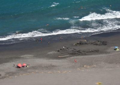Písečná pláž Waiao na východě Taiwanu