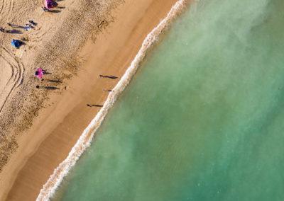 Písečná pláž na severu Taiwanu