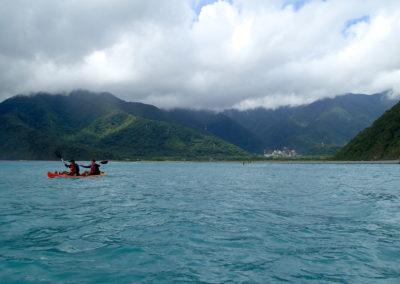 Výlet na mořském kajaky na Taiwanu