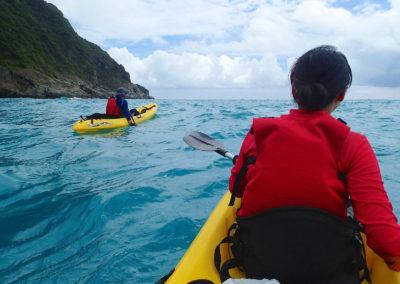 Mořské kajaky na ostrově Taiwan