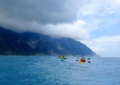 Výlet na seakayaku podél východního pobřeží Taiwanu