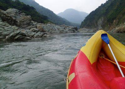 Rafting na řekách ostrova Taiwan