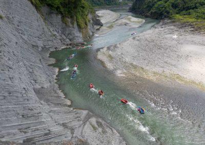 Rafting v Hualienu na východě ostrova Tchaj-wan