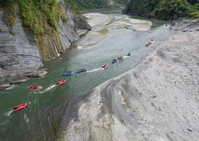 Jednoduchý rafting na východě Tchaj-wanu