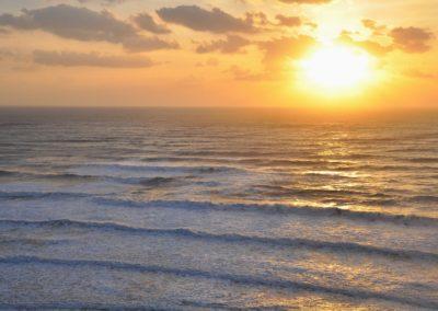 Východ slunce nad Tichým oceánem