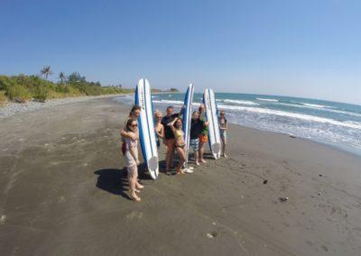 Lekce surfingu na jihu ostrova Taiwan