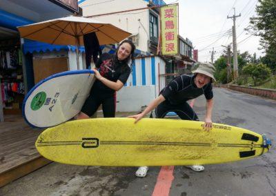 Půjčovna surfů na východě Taiwanu