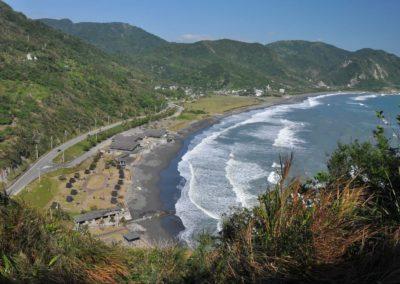 Nádherná pláž Jiqi na východě ostrova Tchaj-wan