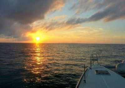 Plachtění v Jihočínském moři směrem k ostrovu Xiao Liuqiu