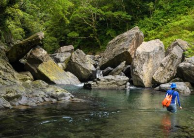 River tracing v oblasti Wulai na jih od Taipei
