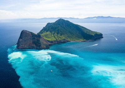 Plavba na katamaránu okolo Želvího ostrova na východě Taiwanu