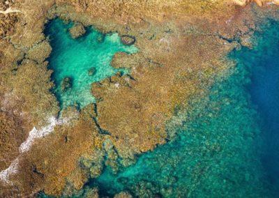 Korálové útesy ostrova Lanyu na Taiwanu